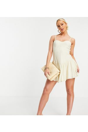 EI8TH HOUR Exclusive strappy corset dress in buttercream