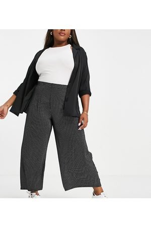 Yours Exclusive wide leg trousers in polka dot