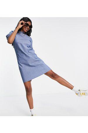 VERO MODA Chambray puff sleeve mini dress in