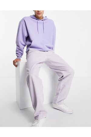 ASOS DESIGN Baggy trousers in lilac cord