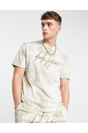 ASOS Dark Future Co-ord relaxed t-shirt in washed with logo embroidery