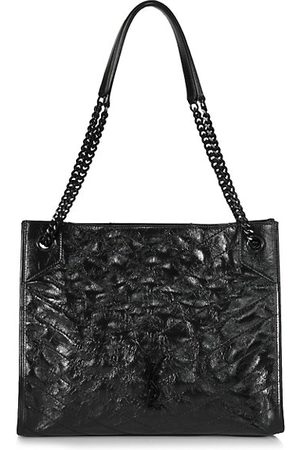 Saint Laurent Women Handbags - Medium Niki Leather Shopper