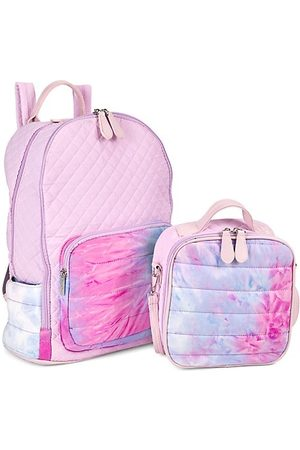 Bari Lynn Girls Rucksacks - Girl's Quilted Watercolor 2-Piece Backpack & Lunch Box Set