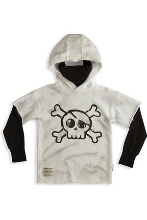 Nununu Little Girl's Skull Twofer Ninja Hoodie