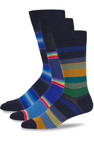 Paul Smith Three-Pack Stripe Crew Socks