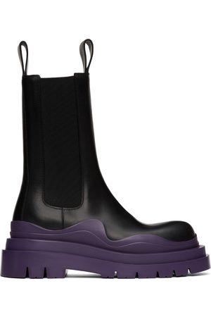 Bottega Veneta & Purple Tire Chelsea Boots