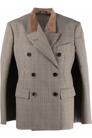 Maison Margiela Women Blazers - Houndstooth double-breasted blazer