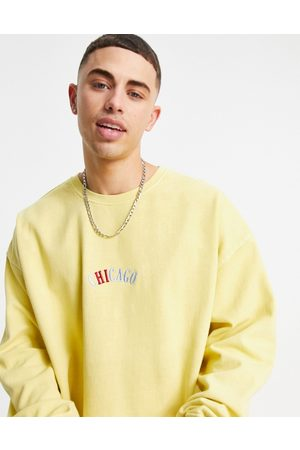 Topman Chicago embroidered sweat in