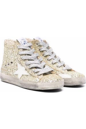 Bonpoint Glitter star-patch trainers