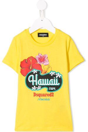 Dsquared2 Kids Boys Short Sleeve - Hawaii print T-shirt