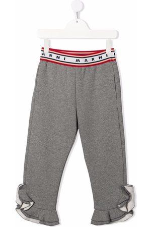 Marni Kids Girls Pants - Jersey ruffle-cuff trousers