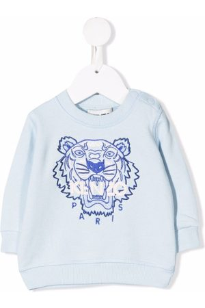Kenzo Tiger-embroidered organic cotton sweatshirt