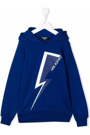 Neil Barrett Kids Thunderbolt-print hoodie
