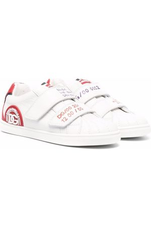 Dolce & Gabbana Kids Side logo-patch sneakers
