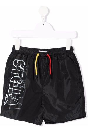 Stella McCartney Boys Swimming Briefs - Logo-print swim shorts