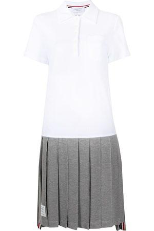 Thom Browne Women Polo Shirts - Pleated knee-length polo dress