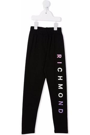John Richmond Junior TEEN logo print leggings