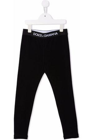 Dolce & Gabbana Kids Logo-waistband cotton leggings