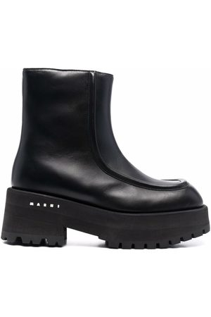 Marni Chunky leather ankle boots