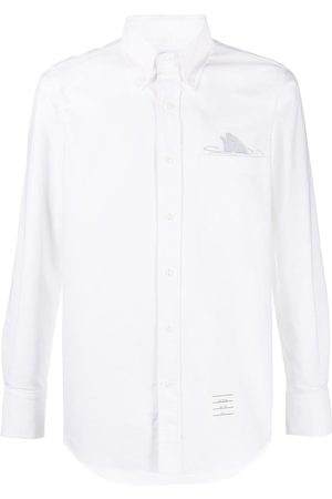 Thom Browne Embroidered-detail buttoned shirt