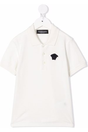 VERSACE Baby Polo Shirts - Medusa-detail polo shirt
