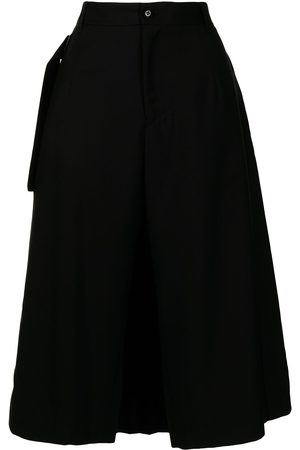Y'S Layered cropped trousers