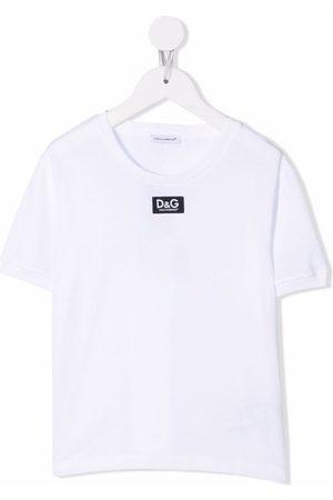 Dolce & Gabbana Kids Logo-patch short-sleeve T-shirt