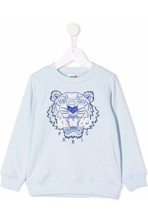 Kenzo Kids Tiger-embroidered cotton sweatshirt