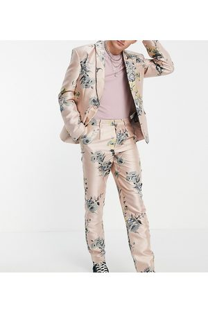 Reclaimed Inspired couture suit trouser in floral print