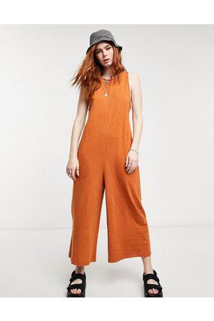 ASOS Women Jumpsuits - Minimal sleeveless jumpsuit in rust
