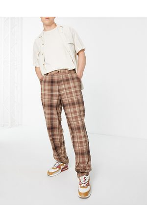 ASOS Baggy fit trousers in check