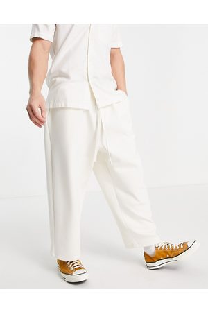 ASOS Oversized cropped wide joggers in scuba