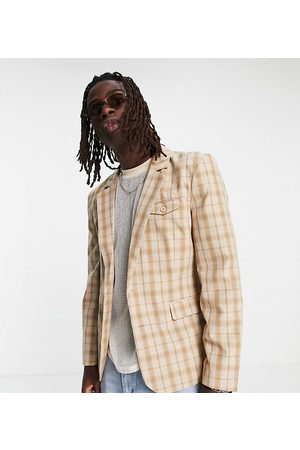 Reclaimed Inspired couture suit jacket in check-Multi