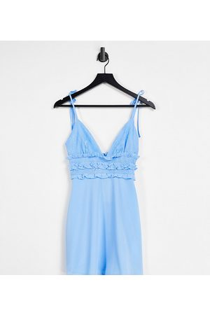 Missguided Mini dress with frill waist in