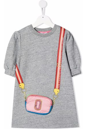 The Marc Jacobs Bag-appliqué puff-sleeves dress
