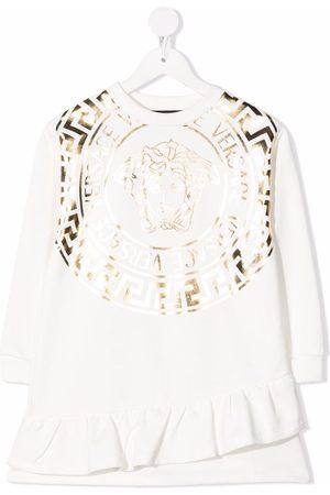 VERSACE Metallic-Medusa dress