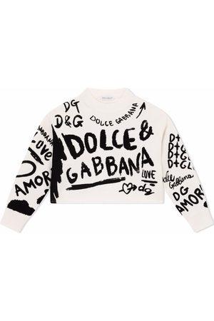 Dolce & Gabbana Girls Jumpers - Graffiti print jumper