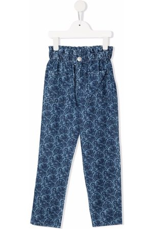 Kenzo Girls Jeans - All-over animal-print jeans