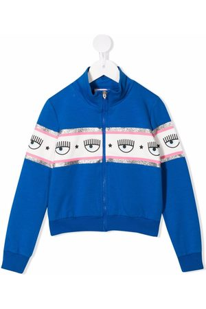 Chiara Ferragni Girls Bomber Jackets - Logomania-tape cotton bomber jacket
