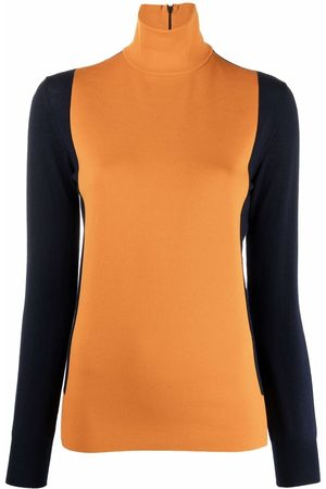 Plan C Colour-block roll-neck jumper