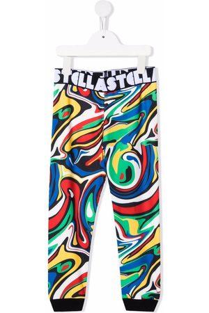 Stella McCartney Girls Pants - Graphic-print elasticated-waistband trousers
