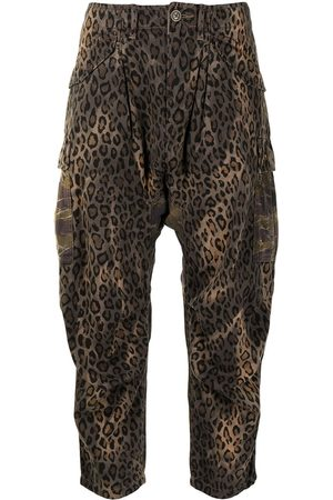R13 Cropped leopard-print trousers