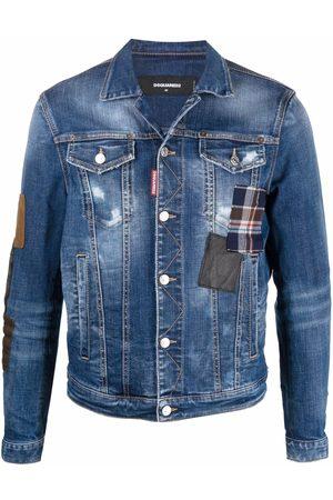 Dsquared2 Check-print denim jacket