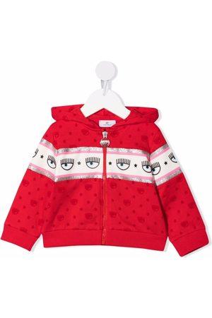 Chiara Ferragni Eye-print zip-up hoodie