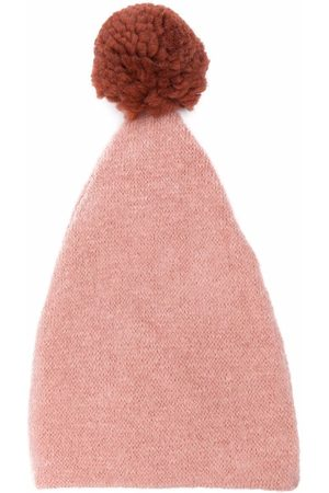 Caffe' D'orzo Adele pom-pom knitted hat