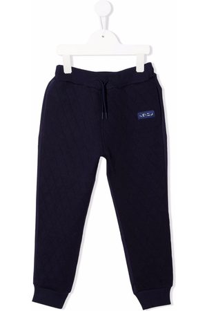 Kenzo Logo-patch cotton track trousers