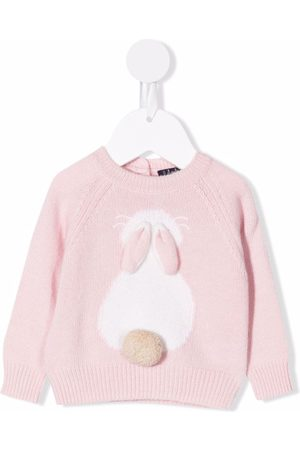 Il gufo Baby Jumpers - 3D bunny-knit jumper