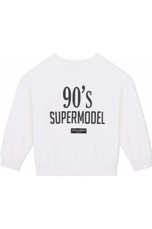 Dolce & Gabbana Girls Sweatshirts - Slogan-print sweatshirt