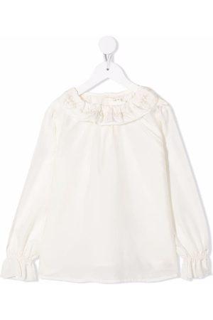 BONPOINT Jaya ruffle-trim silk blouse