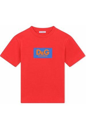 Dolce & Gabbana Boys Short Sleeve - Colour-block cotton T-shirt